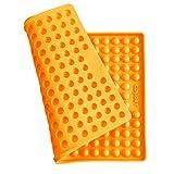 Collory Silikon Backmatte | 1.5cm Halbkugel Backform für Hundekekse Hundeleckerlies | Hitzebeständig 240°C | 40x29 | Lebensmittelecht (BPA-frei) | Pralinenform | Antihaftend