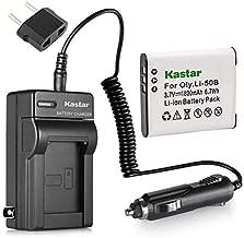 Kastar 1X Battery + Charger for Olympus LI-50B LI-50C & XZ-1 SZ-30MR SZ-10 SZ-11 SZ-20 SP800UZ Stylus Tough-6020 Tough-8010 Tough-6000 Tough-8000 Tough TG-810 1030 SW TG-610 SZ10 Tough 8000 TG810