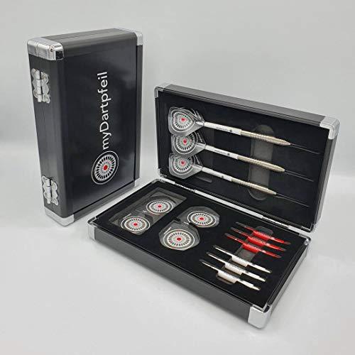 myDartpfeil Aluminium Dartcase ROYAL in schwarz Alu Darttasche/Dartkoffer