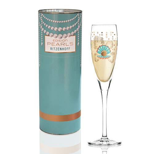 RITZENHOFF 3250045 Pearls Edition Proseccoglas, Glas, 138 milliliters