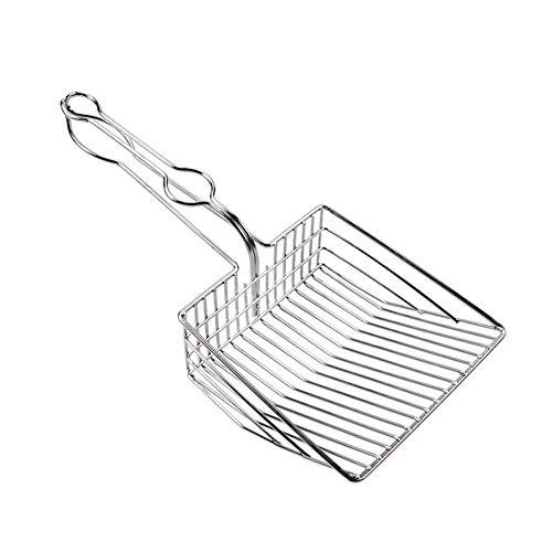 Tutyuity Metall Katzenstreuschaufel, Metallschaufel, Kätzchen-Toiletten-Reinigungsschaufel, Haustier-Reinigungswerkzeug