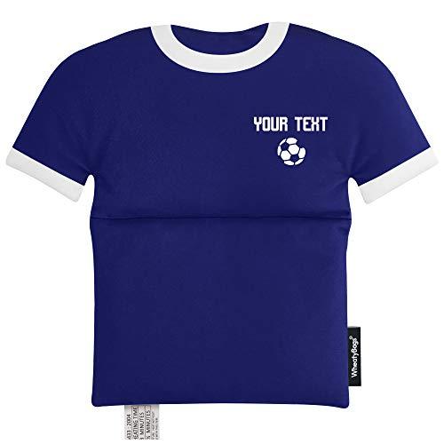 Wärmekissen in Form eines Sport-Shirts, Marineblau – Fußball-Symbol