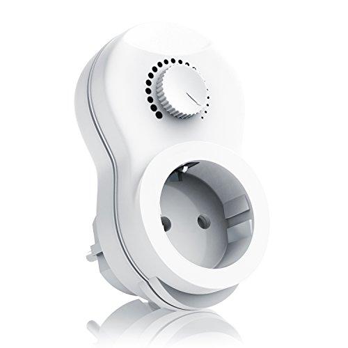 Arendo - Enchufe con regulador de Luz - Dimmer - Interruptor con regulador de intensidad - Modelo optimizado