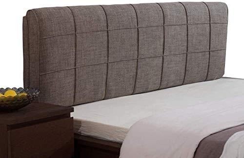 Sängkudde Soft Pack Gavel Bed Back Säng Nap Pillow ljus Bed Kudde säng kudde ryggkuddar Kudde mjuk väska triangel för Säng, sovrum kudde (Color : Brown, Size : 120cm)