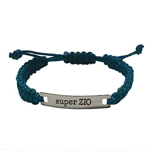 Pulsera Super Zio de M'AMI Tag de acero, color azul, ajustable