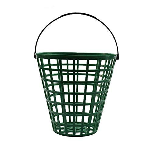 Cesta para pelotas de golf, recipiente para pelotas de golf con soporte para bolas con asa, apto para personas o clubes que lo usan con frecuencia, tiene capacidad para 25-150 pelotas (5 tamaños)