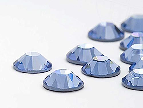 Swarovski 100 Stück Elements Hotfix, Light Sapphire (Blau), SS16 (Ø ca. 4 mm), Strasssteine zum Aufbügeln