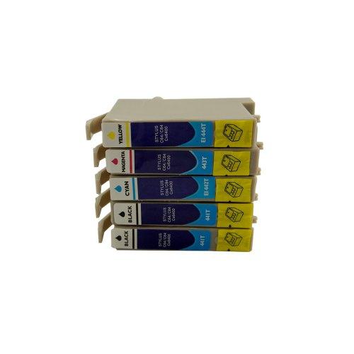 5Cartuchos de Tinta para Epson Stylus C64C84CX3500CX3650sustituir T0441T0442T0443T0444