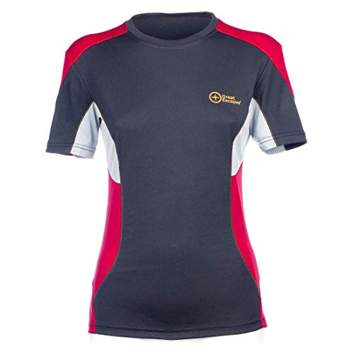 Great Escapes T-Shirt Donna SAVO, Vulcan/Persian Red M
