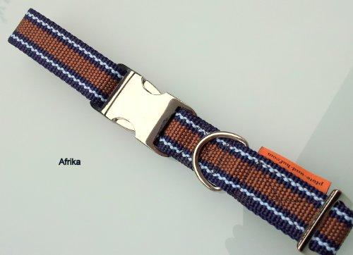 elropet Hundehalsband Vario Afrika dunkelblau-hellblau-braun Gr. M