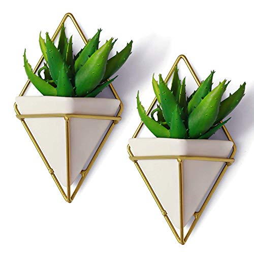 BBA Sunrise | Geometric Hanging Planter Wall Decor (Set of 2), Multi-Functional Decorative Hanging Planters, Modern Hanging Wall Decor for Succulents, Air, Mini Cactus, Faux Plants & More, Indoor