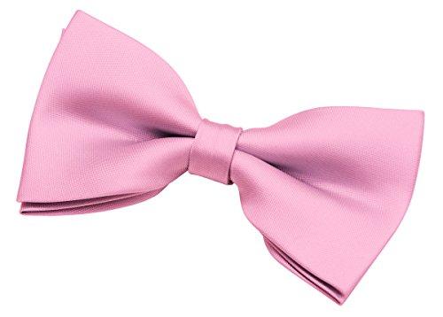 Retreez Herren Fliege, einfarbig, gewebt, Mikrofaser, vorgebunden, 12,7 cm - Pink - Einheitsgröße