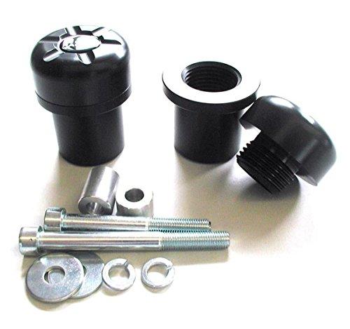 B&G Racing Patins de protection en aluminium pour Suzuki GSX`R 600/760 '04-'05 - Double Black