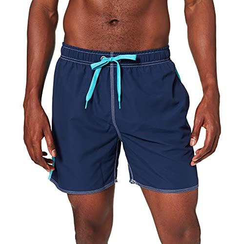ARENA Fundamentals Bicolor, Pantaloncini Uomo, Navy-Martinica, XXL