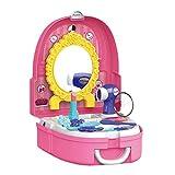 Ruby569y Juego de maquillaje de simulación, juego de niñas simulan juguetes, juguetes de cocina de simulación para niños, juego de herramientas de cajero de maquillaje, mochila caja de juguetes - B