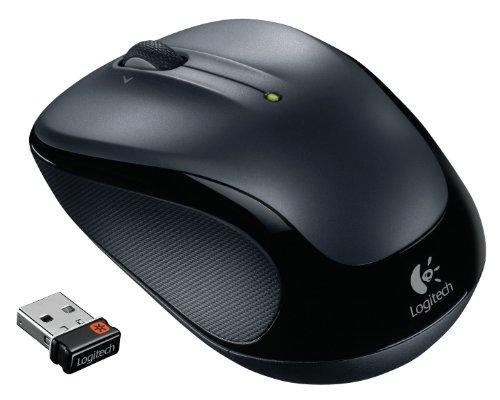 Logitech M325 Kabellose Maus, 2.4 GHz Verbindung via Unifying USB-Empfänger, 1000 DPI Optischer Sensor, 18-Monate Akkulaufzeit, 3 Tasten, PC/Mac - Dark Silver