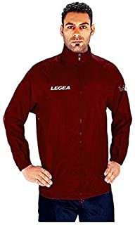 LEGEA Atletica K-Way Vento Completo Completino Uomo Blu-Rosso TORNEO Sport