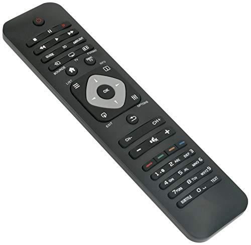 ALLIMITY 242254990477 Fernbedienung Ersetzen für Philips Ambilight 3D HD TV 32PFL6007H 32PFL6007K 32PFL6007T 37PFL6007K 42PFL6007H 42PFL6007K 42PFL6057H 42PFL6057T 42PFL6067H