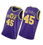 Camiseta de baloncesto Jaz Daily Sports de manga corta Mitchell para hombre, color morado, morado, XL