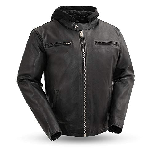 First MFG Co. -Street Cruiser- Men's Motorcycle Leather Jacket |Men's Leather Jacket for Ridding