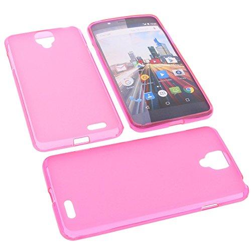 foto-kontor Tasche für Archos 55 Helium Ultra Gummi TPU Schutz Handytasche pink