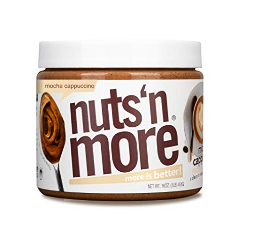 Nuts 'N More Mocha Cappuccino Peanut Butter Spread, All Natural High Protein Nut Butter Healthy Snack, Omega 3'S, Antioxidants, Low Carb, 16 Oz Jar 1 Pound (Pack of 1)