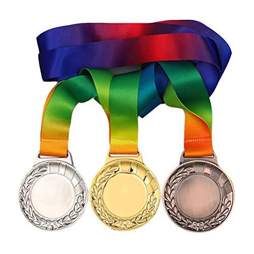 TOYANDONA 3 stks Medaille Model Toy Award Medaille Speelgoed voor Sportwedstrijden (Diverse Kleur)