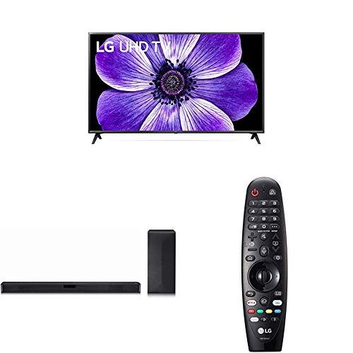 LG 65UN71006LB 164 cm (65 Zoll) UHD Fernseher (4K, Triple Tuner (DVB-T2/T,-C,-S2/S), Active HDR, 50 Hz, Smart TV) [Modelljahr 2020] + 2.1-Soundsystem + Magic Remote-Fernbedienung MR20