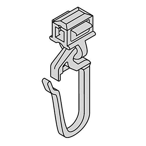 Gardinen Clic-Gleiter mit Faltenhaken lang HINNO HC 32, für Aluminium Gardinenschienen mit 6 mm Spurbreite