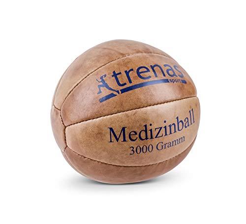 trenas Original Medizinball aus Leder - 3 KG