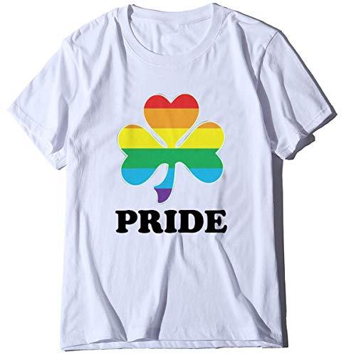 FCYOSO Clover Leaf Pride - Camisas cortas para mujer, diseño gráfico del día de San Patricio