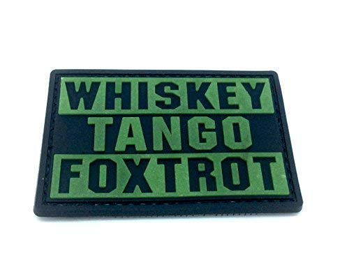 Patch Nation Whiskey Tango Foxtrot WTF im Dunkeln Leuchten PVC Airsoft Paintball Klettverschluss-Flecken Klett
