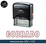 IMPACT2PRINT Brillante Sello De Goma Auto-Entintado S-842 COBRADO Oficina De Sellos De Negocios Personalizados Estacionarios
