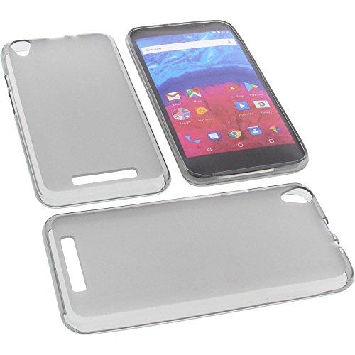 foto-kontor Tasche für Archos Core 55 Gummi TPU Schutz Handytasche grau