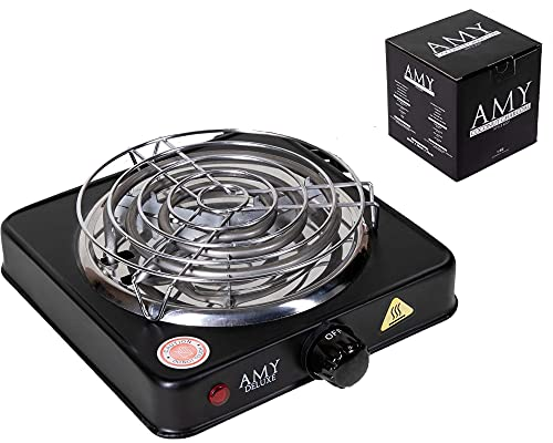 Amy Deluxe Premium Shisha Kohleanzünder set für Shisha Kohle groß mit 1000 W Leistungen. (1KG Amy Kohle)