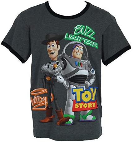 Toy Story Boy T-Shirt Woody Buzz Print Youth Ages 4-14