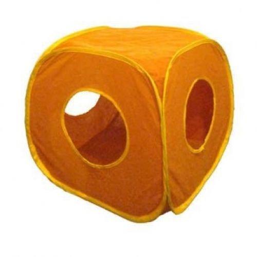 Pop Up Play Cube pour Chat Chaton Petit Animaux Fun Box Boîte pliable Assortiment de 4 Couleurs