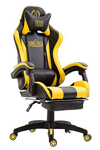 Silla gaming amarilla Ignite tapizada en cuero sintético