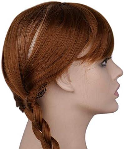 Mädchen/' Frontline UMP9 Cosplay Haar Perücke Orange Brown Zopf Mädchen Spiel Sa