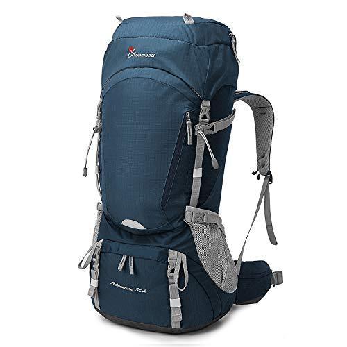 MOUNTAINTOP 55L/65L Zaino da Trekking Grande capacità Zaino Unisex Adulto per Escursionismo Montagna Campeggio Alpinismo Viaggio, Multifunzione (55/Blu II)