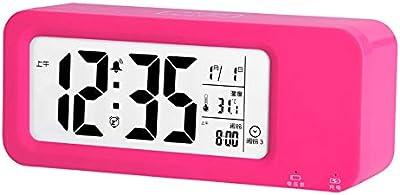 LTOOD Estudiante de Carga electrónica Reloj de cabecera Reloj de Mesa Inteligente niños creativos Reloj de