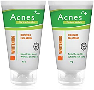 Acnes Clarifying Whitening Face Wash, 50g (Pack of 2)