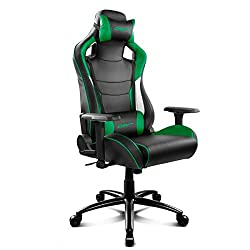 Drift DR400BG - Silla Gaming Profesionl, (Polipiel Alta Calidad, Ergonómica), Color Negro/Verde