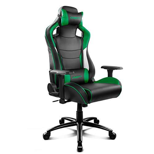 Drift DR400BG - Silla Gaming Profesionl, (Polipiel Alta Calidad, Ergonomica), Color Negro/Verde