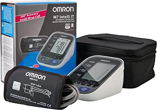 OMRON M7 Intelli IT Evolv Misuratore di Pressione da Braccio, Connessione Bluetooth per App OMRON Connect, iOS/Android, Bracciale Intelli Wrap Cuff, Bianco