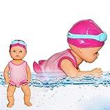 Poupée bébé eau, poupée de natation étanche poupée électrique Art poupées mignonnes, mini ornements non silicone non comestibles mini décorations pour la maison cadeaux d'anniversaire de vacances