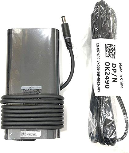 Compatible for Dell 180W AC Adapter for Precision 7520, Alienware 15 R4, Alienware 17 R5, G7 15 (7588),G3 15 (3579) G3 17 (3779),G5 15 (5587), Inspiron 15 7000 Series (7577), Alienware M15,HA180PM181