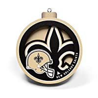 YouTheFan NFL New Orleans Saints 3D Logo Series Ornament