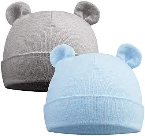 Pesaat Newborn Hospital Hat 0 12Months Preemie Boys Girls Beanie Solid Infant Baby Hats Autumn product image