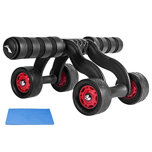 KKCD Rueda Abdominal AB Rollers Abdominal Wheel - Fitness Equipment Abs Wheel Ejercicio AB Roller Wheels AB Roller para Mujeres y Hombres
